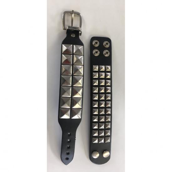 Bracelet cuire avec métal (pqt 24)