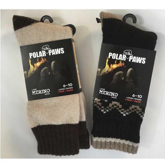 Chaussettes/Bas-pour femmes - Polar Paw - Laine Mérino