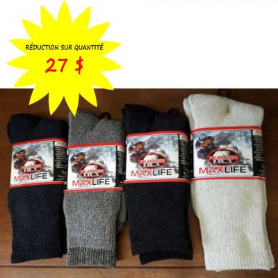 Chaussettes/Bas pour hommes - Maxlife weathershield Polar Paws- Lot de 12 paires