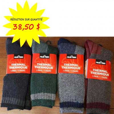 Chaussettes / Bas pour hommes Polar Paws - Thermique - Paquet de 12 paires