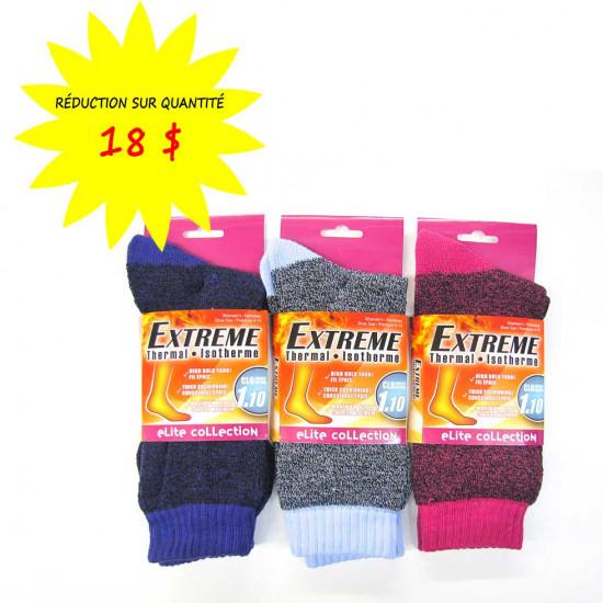 Chaussettes/Bas-pour femmes - EXTREME Isotherme - Collection Elite- Lot de 12 paires