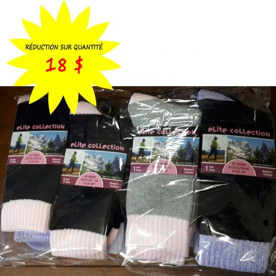 Chaussettes/Bas pour femmes Collection Elite- Lot de 12 paires