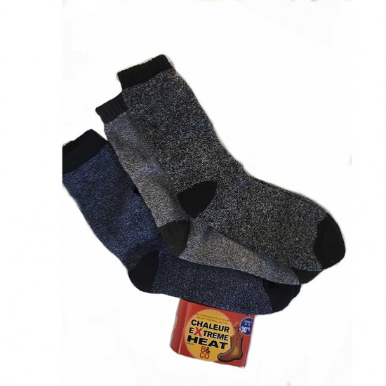 Chaussettes / Bas pour hommes - Chaleur extrême - Paquet de 12 paires
