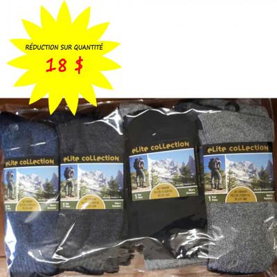 Chaussettes/bas pour hommes Collection Elite- Lot de 12 paires
