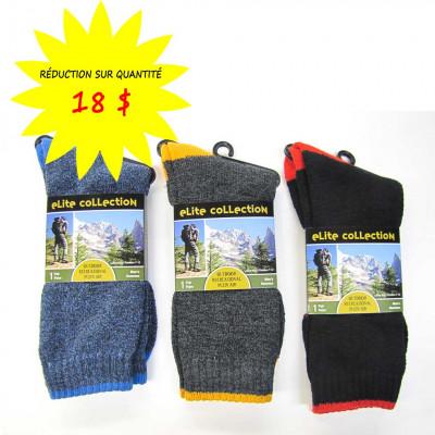 Chaussettes/Bas -Bi-couleurs-pour hommes Collection Elite- Paquet de 12 paires