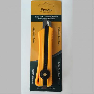 Couteau à lame rétractable/Exacto - Gros travaux - orange