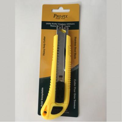 Couteau à lame rétractable/Exacto - Gros travaux - jaune