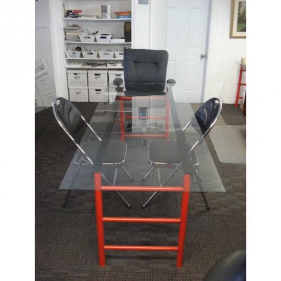 Table modulable et démontables structure en métal et plateau aux choix