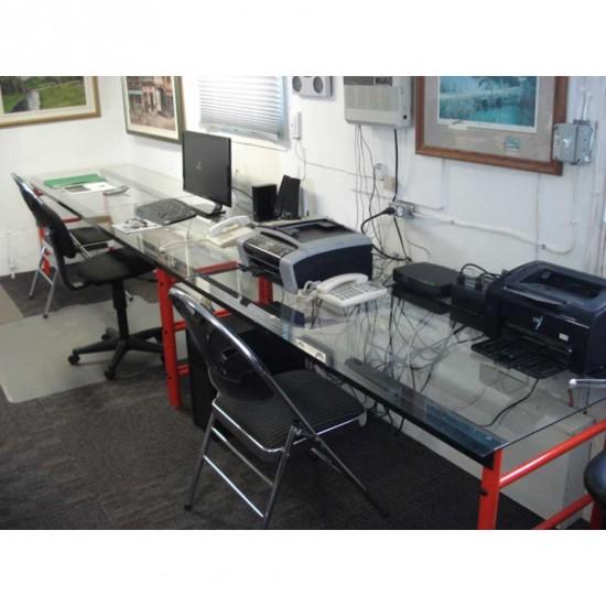Bureau modulable | démontable srtucture en métal et plateau aux choix