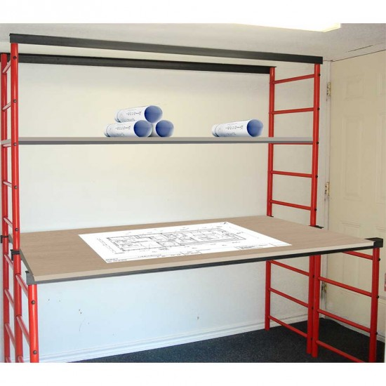 Table de travail / établi sur mesure stucture en métal